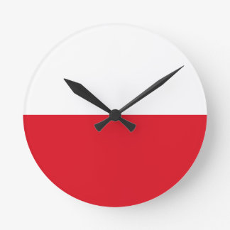 Polonian flag round clock