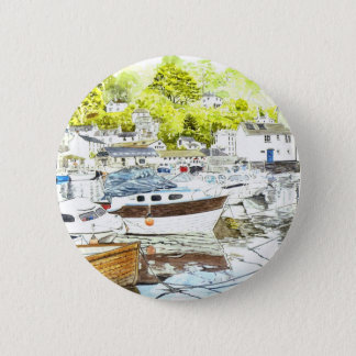 'Polperro Reflections' Button