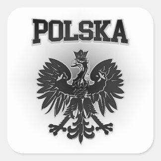 Polska Coat of Arms Square Sticker