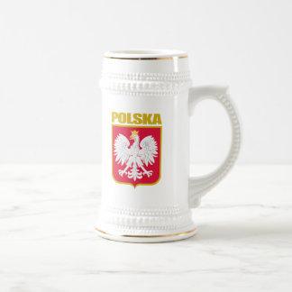 Polska (Poland) COA Beer Stein