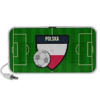 Polska Poland Soccer Flag Football Portable Speakers