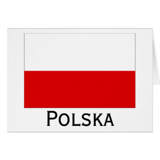 Polska Polish Flag Card