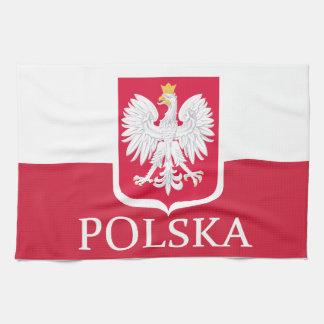 Polska Polish Flag Coat of Arms MoJo Kitchen Towel