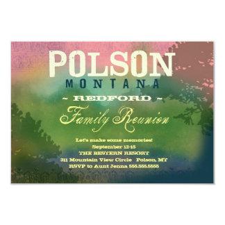 "POLSON MONTANA Family Reunion 3.5"" X 5"" Invitation Card"