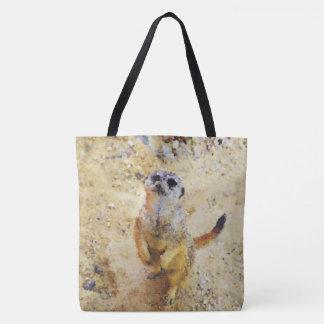 Poly Animals - Meerkat Tote Bag