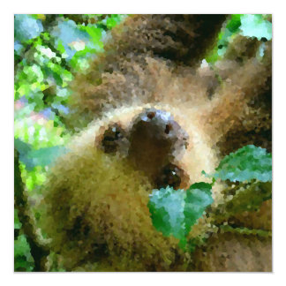 Poly Animals - Sloth Magnetic Card