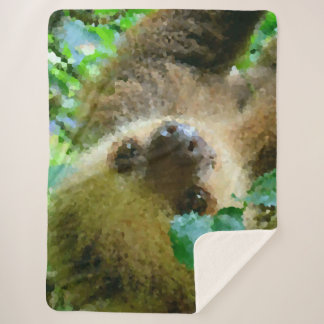 Poly Animals - Sloth Sherpa Blanket