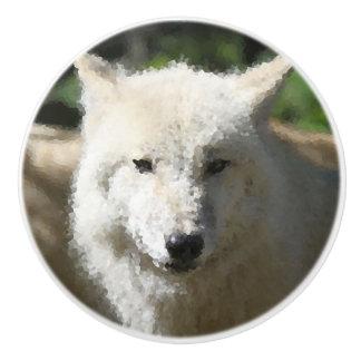 Poly Animals - Wolf Ceramic Knob
