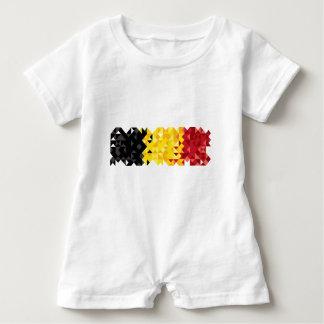 Poly Art Belgium Flag, Belgian Color Baby Clothing Baby Romper