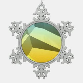 Poly Fun 1A Snowflake Pewter Christmas Ornament