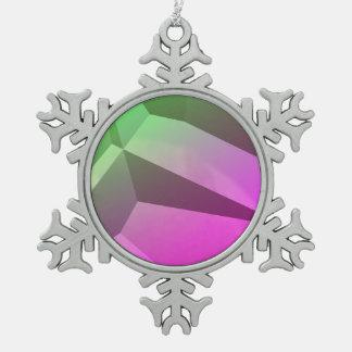 Poly Fun 1B Snowflake Pewter Christmas Ornament