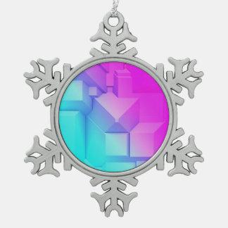 Poly Fun 3B Snowflake Pewter Christmas Ornament