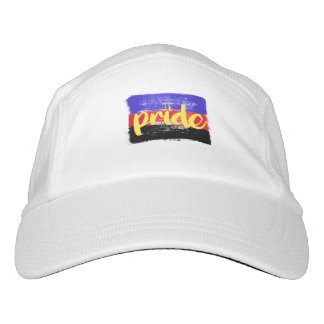 POLY PRIDE CALLIGRAPHY - PAINTED POLYAMOROUS PRIDE HAT