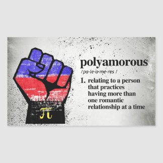 Polyamorous Definition - Defined LGBTQ Terms - Sticker