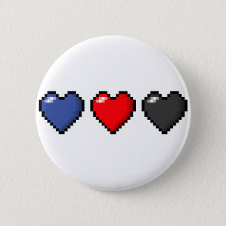 Polyamorous Pixel Hearts 2 Inch Round Button