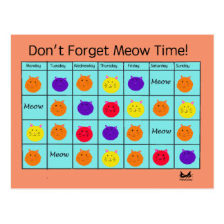 Polyamory Cat: Meow Time Postcard