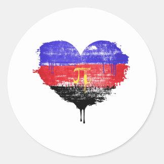 POLYAMORY HEART - POLYAMORY LOVE - SYMBOL - CLASSIC ROUND STICKER
