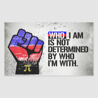 Polyamory - Who I am is not determined by Who I'm  Sticker