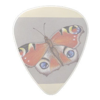 Polycarbonate Guitar Pick with Peacock Butterfly
