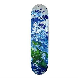 Polychromoptic #14B by Michael Moffa Custom Skate Board