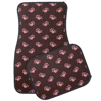 Polydactyl Cat Paw Print Heart Car Mat