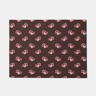 Polydactyl Cat Paw Print Heart Doormat