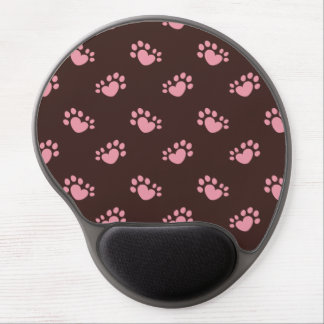 Polydactyl Cat Paw Print Heart Gel Mouse Pad