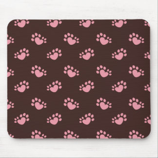 Polydactyl Cat Paw Print Heart Mouse Pad