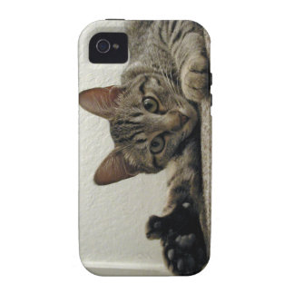 Polydactyl Kitty Cat MIRA gives THUMBS UP!  =^..^= iPhone 4/4S Covers