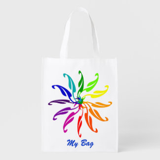 Polyester Bag - Color Wheels and Text