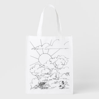 Polyester Bag - Morning Scene to Color