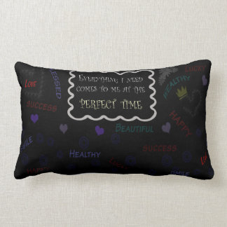 "Polyester Lumbar Pillow-affirmation 13"" x 21"" Lumbar Pillow"
