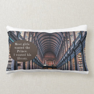 Polyester Lumbar Pillow with fairy tale book quote