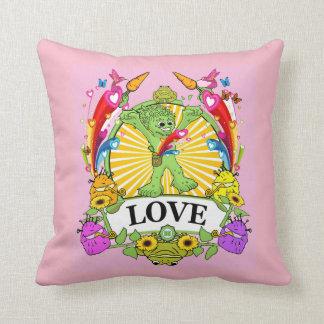 Polyester Throw Pillow 16 Munchi Power! LOVE PINK