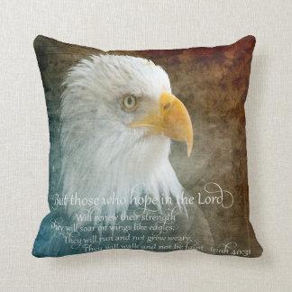 "Polyester Throw Pillow 16"" x 16"" - Soar - Eagle"