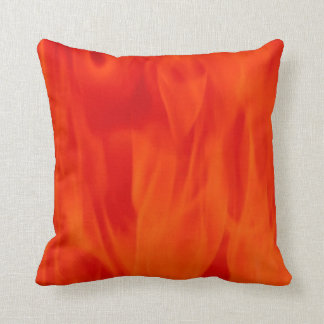 Polyester Throw Pillow 16x16 red flame
