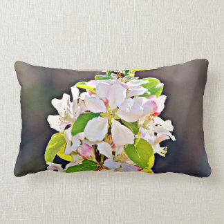 """Polyester Throw Pillow """" Apple Tree Blossoms"""""""