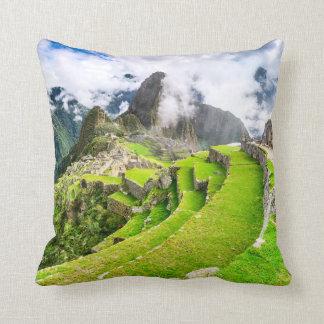 Polyester Throw Pillow, Machu Picchu, Cusco - Peru Throw Pillow