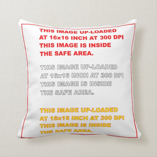 "Polyester Throw Template 16"" x 16""  35 Colours Throw Pillow"