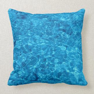 "Polyester ThrowPillow 20"" x 20"" Beach Water Design"