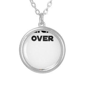 POLYGAMOUS OVER - Word games - François City Silver Plated Necklace