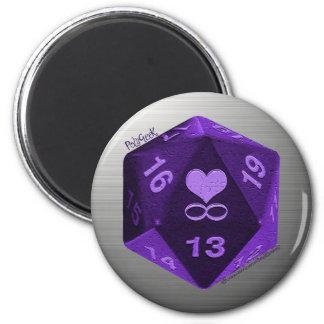 PolyGeek Magnet - Purple