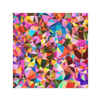 Polygon Color Pattern Canvas Print