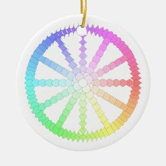 polygon evolution wheel geometry ceramic ornament