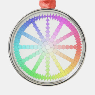 polygon evolution wheel geometry metal ornament