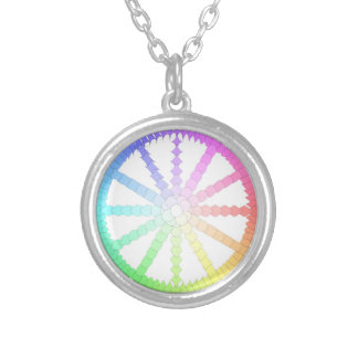 polygon evolution wheel geometry silver plated necklace