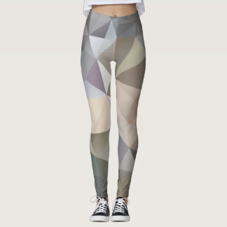 Polygon Geometric Abstract Pattern Leggings