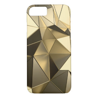 polygon gold design iPhone 8/7 case