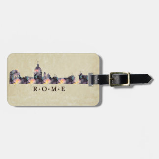 Polygon Mosaic Skyline of Rome Luggage Tag
