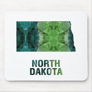 Polygon Mosaic State Map  NORTH DAKOTA Mouse Pad